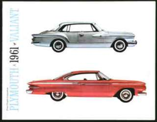 Chrysler Plymouth Valiant Car Brochure 1961 Fury Savoy