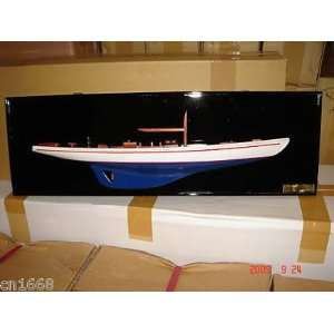 Endeavour II Half Hull High Quality Hand Made Wooden Model Ship