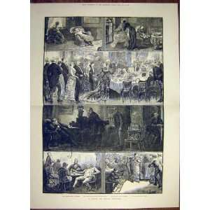 1881 Sketch Story Nursery Drawing Room Library Kitchen