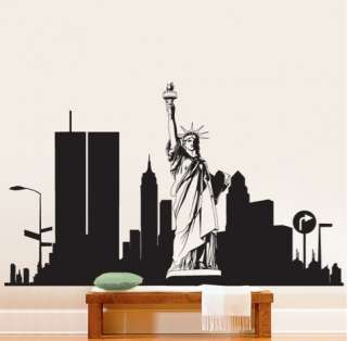 Vinyl Wall Decal Sticker NEW YORK CITY Statue Liberty