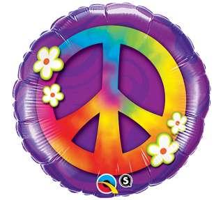 PEACE SIGN BIRTHDAY 18 Balloon 60S THEME ROCK N ROLL LOVE HIPPIE