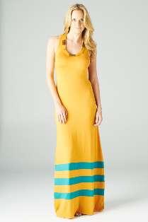 Orange   Navy Stripe Clothing Company Romeo & Juliet Couture Long Maxi