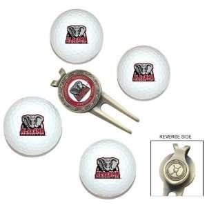 Alabama Crimson Tide 4 Golf Ball Divot Tool/Ball Marker Gift Set