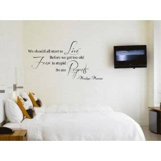 Keep Smiling Marilyn Monroe Quote Wall Decal Sticker Home