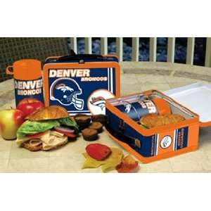DENVER BRONCOS NFL Football Metal LUNCHBOX Lunch Box w