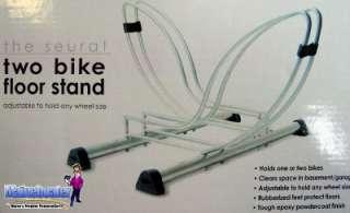 New Delta Seurat Dual 2 Bike Bicycle Garage Floor Stand