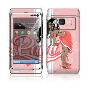 Nokia N8 Skin Decal Sticker  Puni Doll Pink