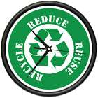 RECYCLE Wall Clock recycling think green peace earth