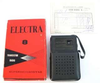 OLD HONG KONG ELECTRA TRANSISTOR 8 RADIO 1960s ?