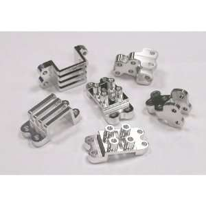 Team Integy Front or Rear Suspension Mount, Silver CR01 Toys & Games