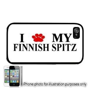 Finnish Spitz Paw Love Dog Apple iPhone 4 4S Case Cover