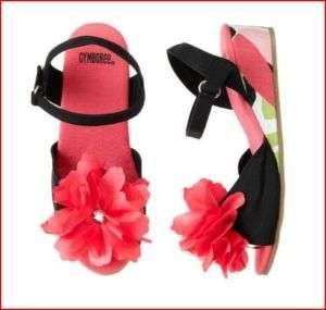 NWT Gymboree Palm Beach Black Flower Corsage Sandals