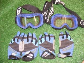 Lot of 2 , Dirt Bike, Motorcross, ATC, Youth Helmets, plus gloves and