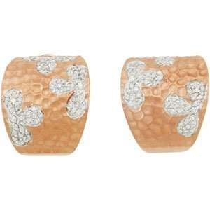 Clevereves 14K Rose Gold Plated Cubic Zirconia Earrings W