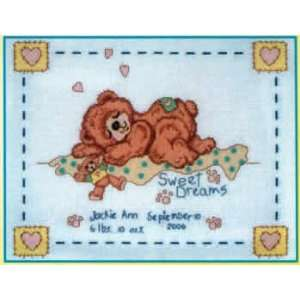 Sweet Dreams Baby Birth Announcement Kit (cross stitch