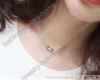 Fashion Cute Panda Black Crystal Eyes For Girl