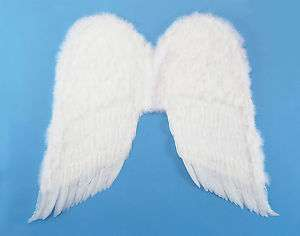 Adult White Feather Angel Wings Cupid Costume Accessory