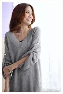 yrfashion Korean Women Fashion Ladylike Loose Sweater Woolen V Neck