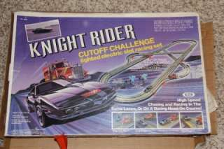 80s Knight Rider Cutoff Challenge Lighted Eletric Slot car Racing Set