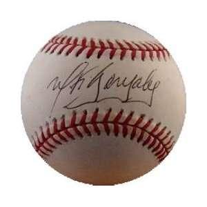Wiki Gonzalez Autographed Baseball   autographe: Sports