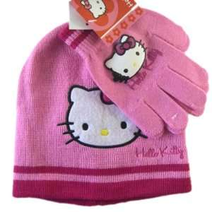Sanrio Hello Kitty Winter Hat & Gloves Set (pink) Toys