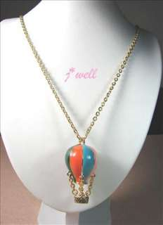 Premier Jewelry Colorful Balloon Dangled Gold Tone Long Necklace *FREE