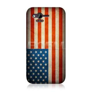 HEAD CASE DESIGNS AMERICAN FLAG BACK CASE COVER FOR HTC RHYME