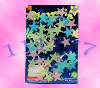 100X GLOW IN THE DARK STARS STICKERS BABY ROOM NURSERY#