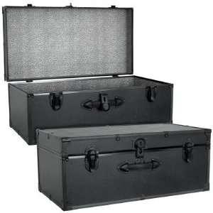 Mercury Luggage Barracks Footlocker   Black
