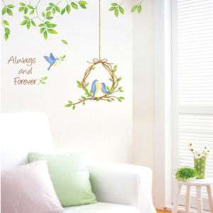 BIRDS NEST ★ MURAL VINYL WALL ART DECOR DECAL STICKER