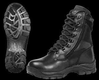 Ridge Blackhawk Mens Work / Duty Boots with Zipper   4 Styles  Black