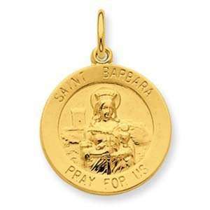Sterling Silver & 24k Gold  plated Saint Barbara Medal Jewelry