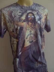Minute Mirth 60s Saint Tattoo Men T shirt M L