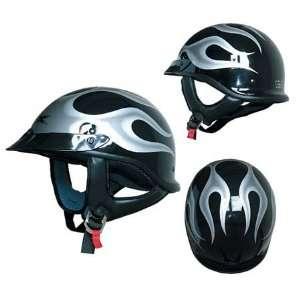 AFX FX 68 Beanie Flames Half Helmet XX Large  Black