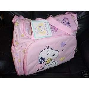 Snoopy Baby Diaper Bag Pink Girls New Large Big Size Baby