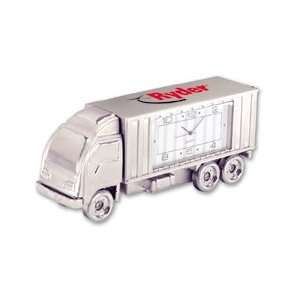 714    Die Cast Semi Truck Clock