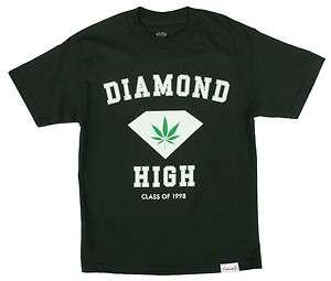 Diamond Supply Co. Diamond High T Shirt   Green