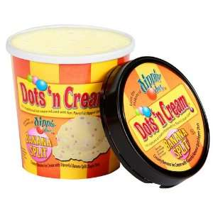 Dots n Cream Ice Cream (from Dippin Dots)   90 Servings   Banana