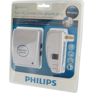 Philips Wireless Phone Jack System   Turn any AC outlet into a Phone