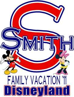 MICKEY & MINNIE DISNEY FAMILY VACATION DESIGN DECAL NEW
