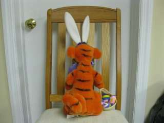 Disney Plush Tigger Easter Bunny basket egg 21 inches