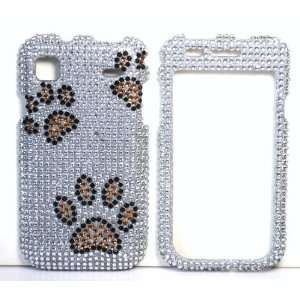 Silver with Brown and Black Dog Paw Prints Samsung T959 Vibrant Galaxy