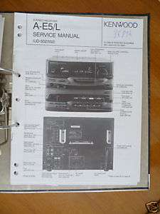 Service Manual Kenwood A E5/L Receiver,ORIGINAL