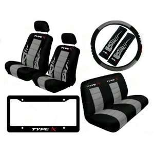 Rear Bench Seat Cover and Steering Wheel Cover and Seat Belt Covers