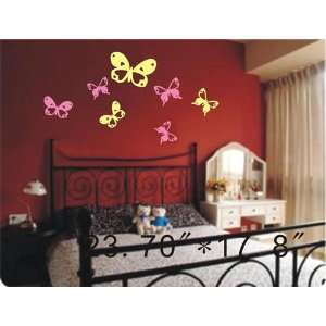 Large  Easy instant decoration wall sticker decor  10 butterflies   23