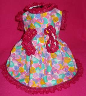 Dog Dress Valentines Day custom fit up to 21 girth