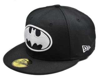 New DC Comics 59Fifty Fitted Hat Cap BATMAN Black White Logo