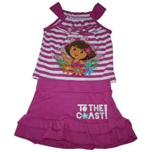 Dora the Explorer Toddler Girl 2PC Tank Top Dress Set Size