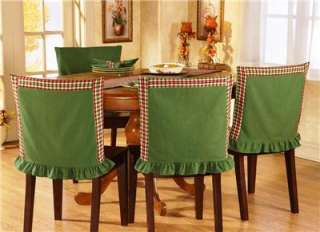 Country Red & Green Plaid Chair Back Covers