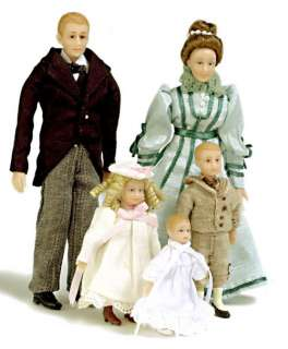 dollhouse MINI DOLL FAMILY DRUMMOND VICTORIAN PEOPLE